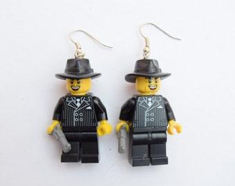 lego minifigure earrings, Gangsters