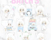 Batch 3 - Teeny and Bop 01 (Kawaii Planner Stickers)
