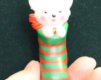 Vintage Cat in a Christmas Stocking Christmas Ornament