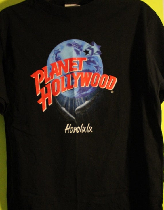 2 fer sale planet hollywood 2 shirts one low price authentic for Planet hollywood t shirt