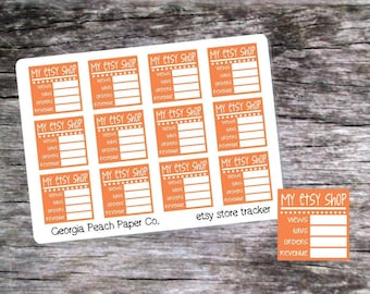 Etsy Store Tracking Planner Stickers - Made to fit Vertical or Horizontal Layout