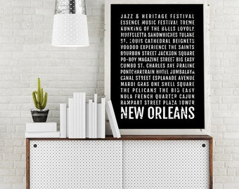 New Orleans Wall Decor new orleans print | etsy