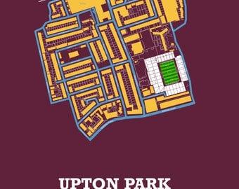 West Ham United FC - Upton Park / Boleyn Ground. Art Print