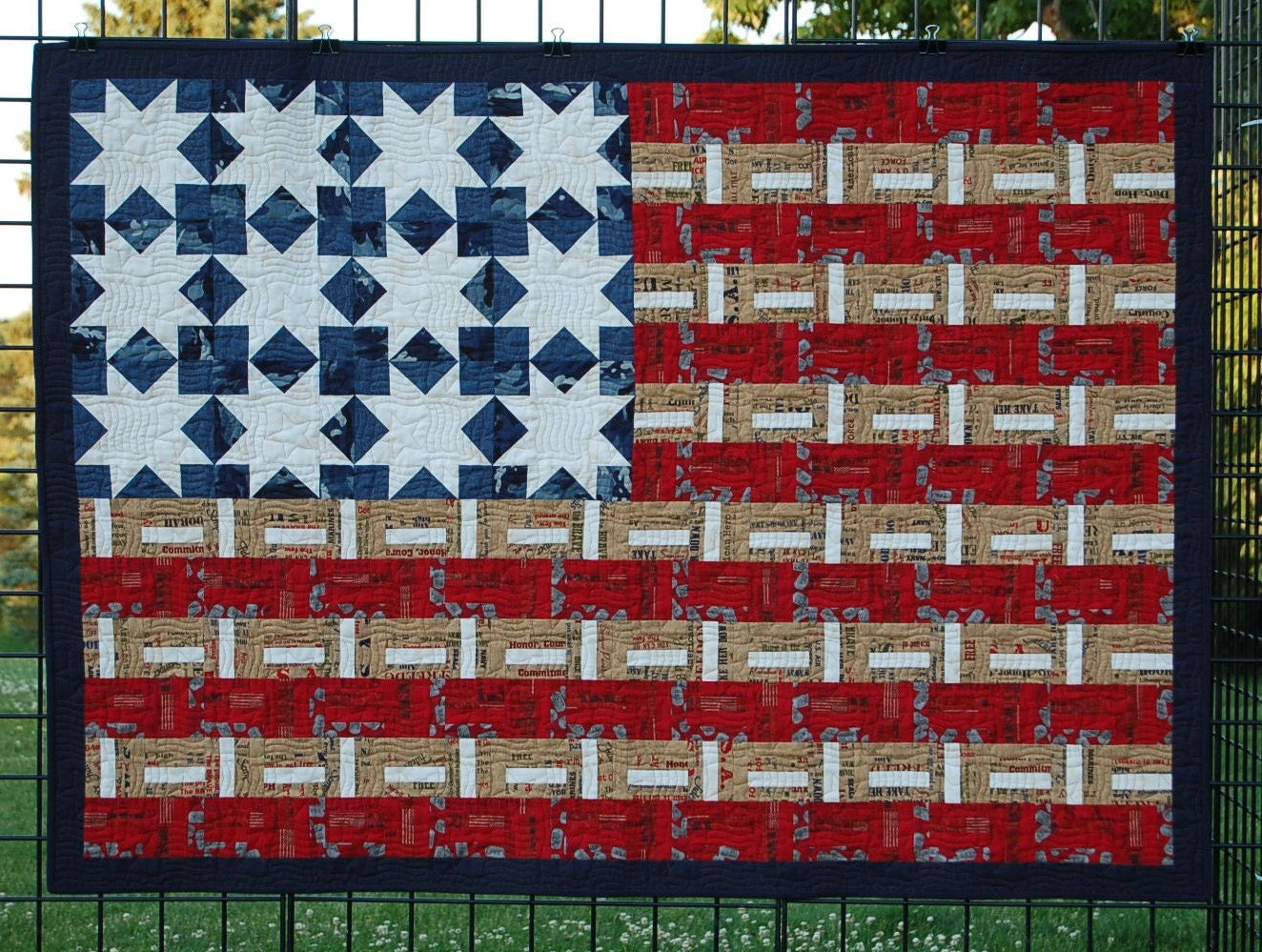 Red White and Blue Quilt for Sale Land of the Free is a