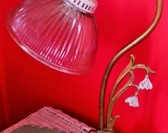 Rare Art Deco Snowdrop Flowers and Bulb Lamp