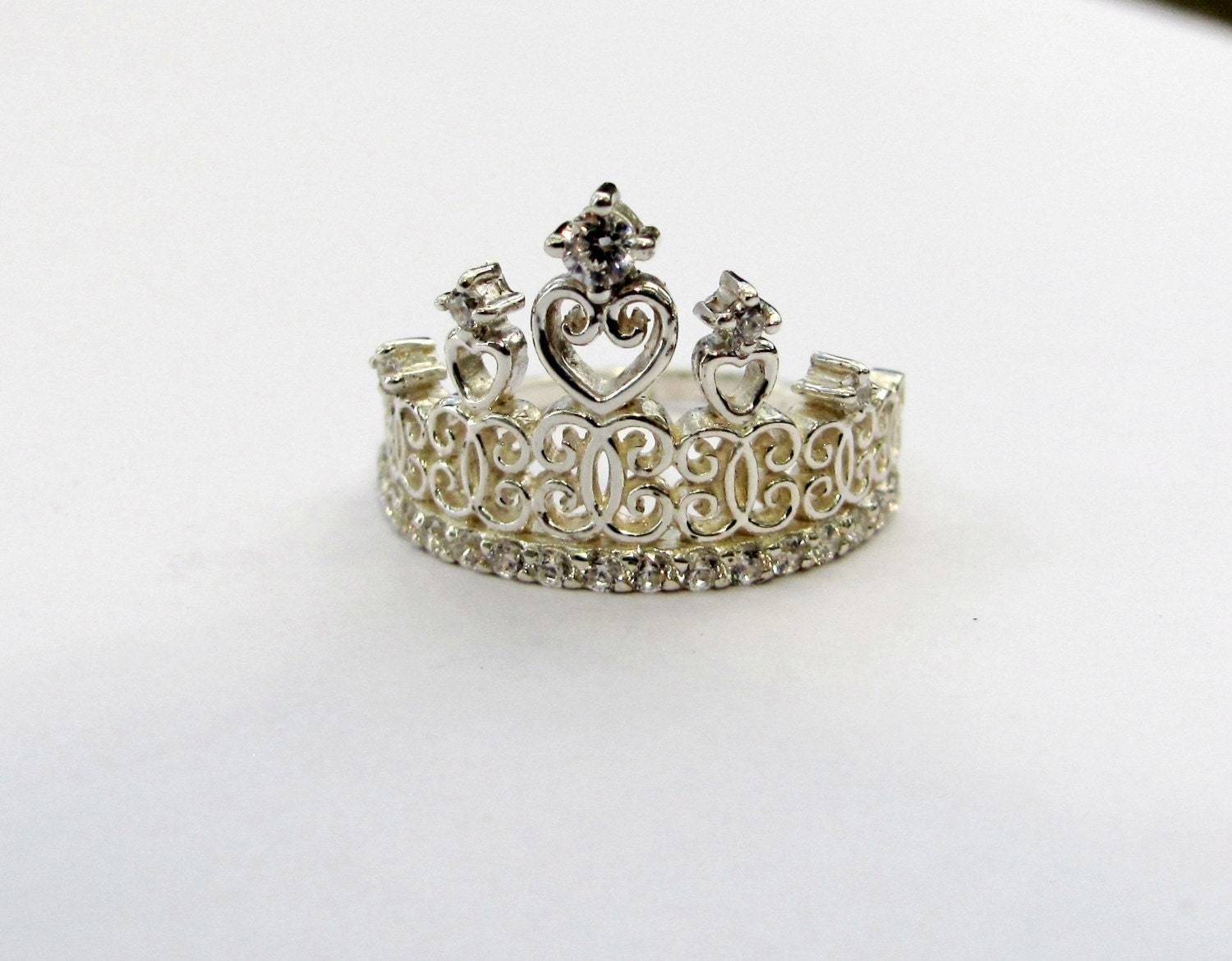 princess crown ring sterling silver ring promise by