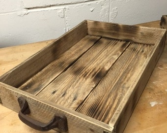 Large, Industrial Wood Tray