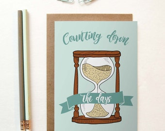 Counting Down The Days Greeting Card, long distance boyfriend gift, boyfriend gift, long distance card, long distance relationship card