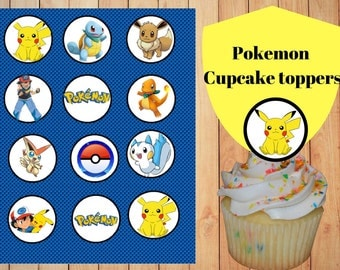 Pokemon Cupcake Toppers printable