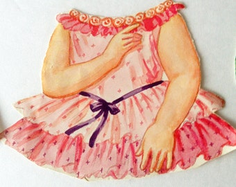 Paper Doll - Magic Stay on Dresses. 1960's Vintage