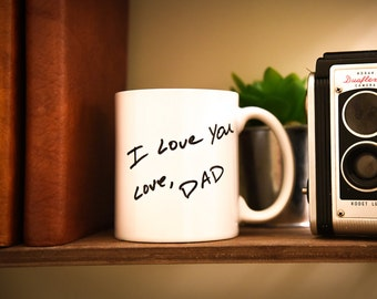 HANDWRITTEN/HANDDRAWN PERSONALIZED Coffee Mug