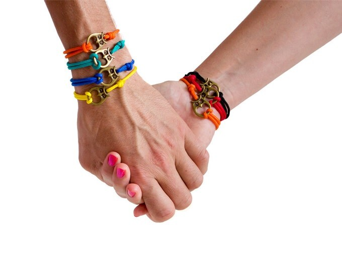 Friendship Bracelet, Owl Bracelet Set, Friendship Jewelry, Paracord Bracelet
