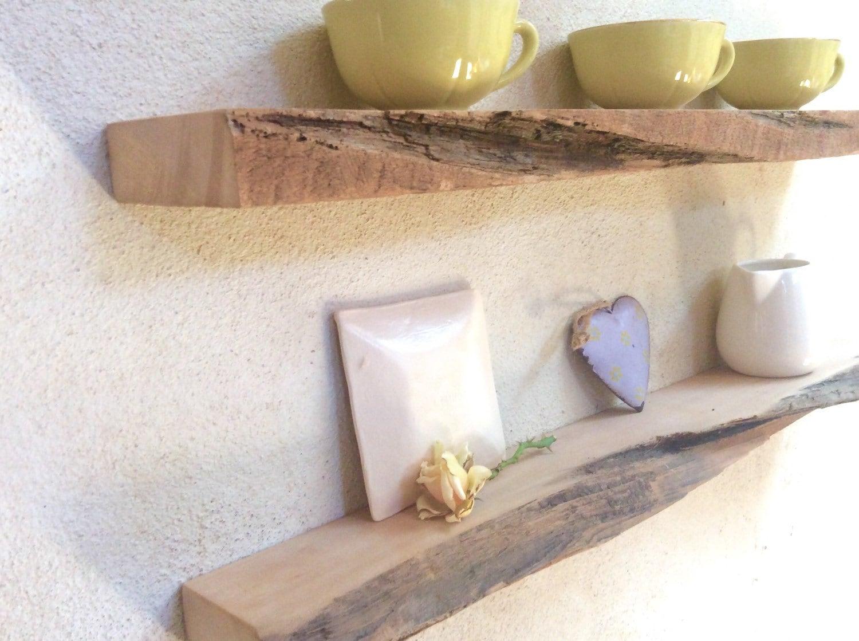 Floating shelves wood driftwood style set of 2 wall shelves for Driftwood wall shelves