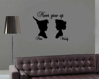 Peter Pan Wall Decal For Kids Room Disney Decal Wendy Wall Sticker Peter Pan Neverland Living Room Vinyl Sticker