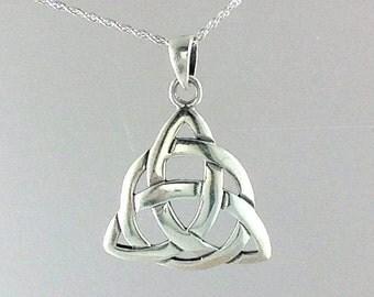 Trinity Necklace~Trinity Knot~Celtic Large Trinity Knot Necklace~Silver Celtic Necklace~Mother Gift~Daughter Gift~Celtic Jewelry~Celtic Gift