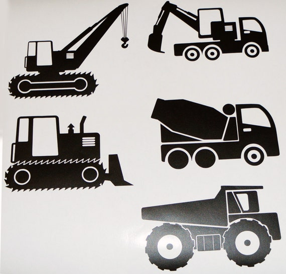 50 Construction Decals, Excavator Wall Decals, Vehicles Wall Decals, Boys  Room Wall Stickers, Truck Removable Wallpaper, Kidu0027s Bedroom Decor From  CutOutArts ...