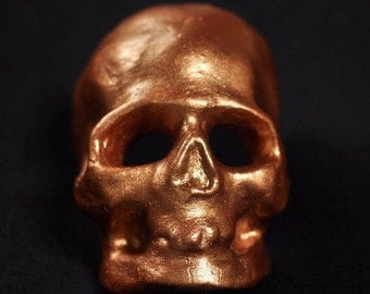 Metallic Skull - Plaster Cast
