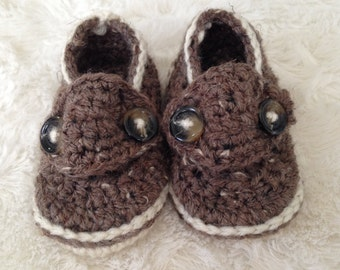 Baby Button Loafers, Baby Booties, Baby Shoes