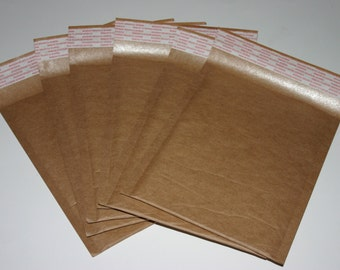 25 Eco Friendly Size #0 6x9 Brown Kraft Bubble Mailers Self Sealing  Envelopes