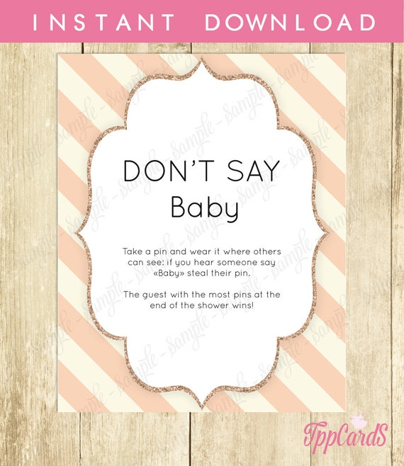 baby shower game don 39 t say baby sign diaper pins clothes pins game