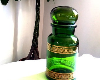 Vintage Apothecary Glass bottle Made in Belgium