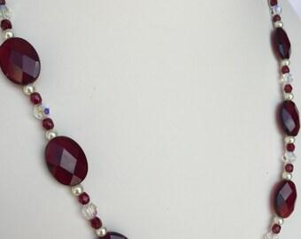 Ruby Red Quartz Necklace