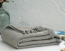 Gray wool blanket,Sofa throws,Winter,Wool throw blanket,Warm,Throws for sofa,Gray blanket,Throw blanket,Turkish,Wool throw,Wool blanket