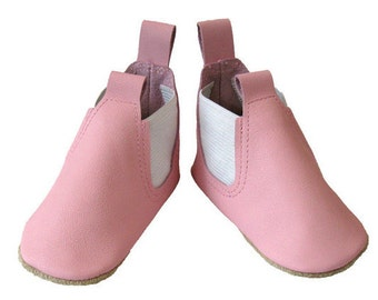 Baby Pink Boots, Toddler Boots, baby girl boots, toddler girl boots, Leather boots girls, leather baby Shoes, baby shoes, handmade Australia