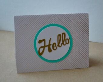 Hello Handmade Greeting Card