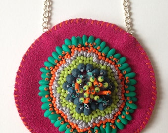 Colourful Circular Embellished Necklace