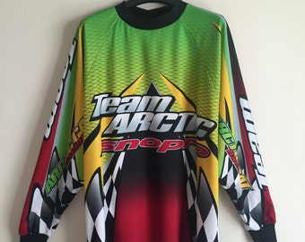 Lime Green Multicolor Racing Jersey