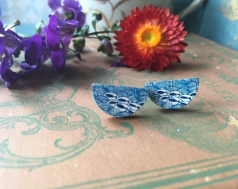 quirky and adorable fish and ocean stud earrings, gift for her