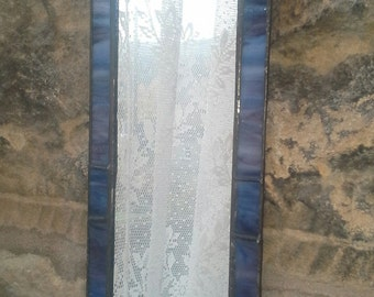 Gothic style stained glass mirror