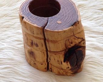 Vintage Burl Wood Vase