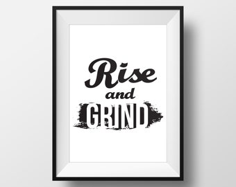 Motivational Poster Print - Rise and Grind