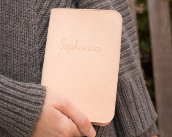 Personalized Leather Passport Cover, Unique Gifts for Traveler, Destination Wedding, Honeymoon Couple, Anniversary Gift, Gift for Boss