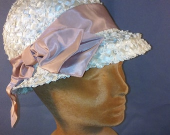 Beige Woven Summer Hat