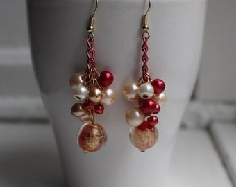 Red passion earrings