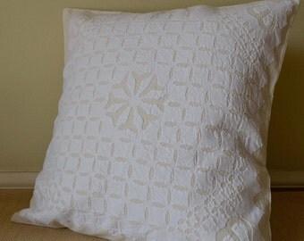 Dashes Appliqué Cushion Cover