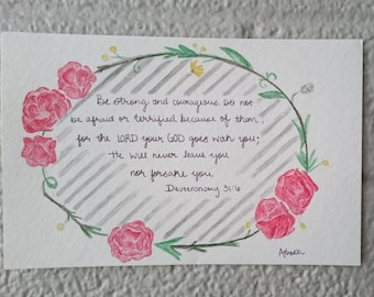 Watercolor Inspirational Scripture Painting