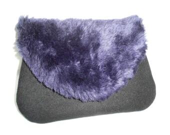 Black / purple case / Black / purple clutch