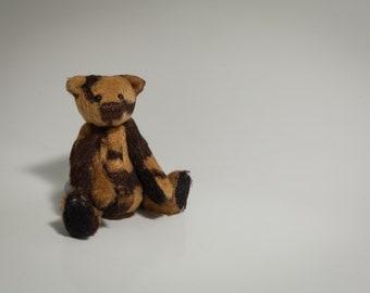Handmade OOAK Miniature Teddy Bear - Peanut