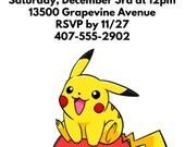 Pokémon Invitations, Pikachu, Pokémon Party, Pokémon Go, pokeballs, Pokémon Birthday, Pikachu Invitations