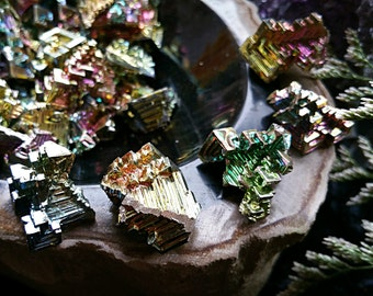 Rainbow Bismuth, Metalloid, Neutrality, Balance, Organization, Metaphysical Crystal
