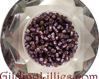 """6"""" Toho 6/0 Round #39F Light Purple Silver Lined Matte Beads"""