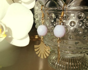 Lilac Fan Earrings