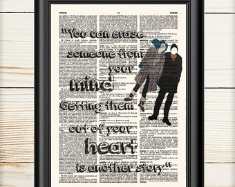 Eternal Sunshine Of The Spotless Mind, Movie Poster, Literary Movie, Dictionary Print, 063