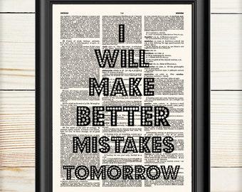 Typography Wall Art, Literary Print, Inspirational Quote Art Print, Motivational, Dictionary Print, Wall Art Print, Home Office Decor, 089