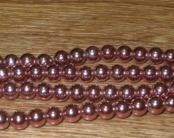 10 MM Pink Hematite 15 inch Strand