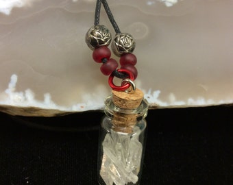 Quartz Crystal Pendant Bottle